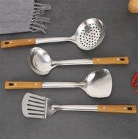Edelstahl Küchenutensilien Set Kochutensilien Spatel Bratschaufel Löffel Kühler Verdickte Haushaltsküche Liefert Werkzeuge auf Lager