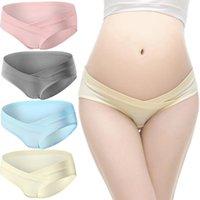 سراويل نسائية 4 قطع ملخصات للحوامل مريحة النوم منخفضة الخصر دعم traceless السيدات الملابس الداخلية M-XXL تصميم