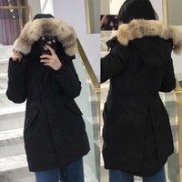 Top Quality Down Coat Women Thick real wolf fur Hooded Women's Slim Jacket Winter Parka Ladies Long Parkas Designer Hoodies Jackets Warm coats