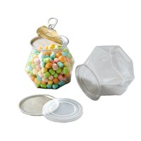 Manufacturers 600ML PET laundry beads storage Containers candy bpa free sealable plastic jar food grade cute beverage cans with lids