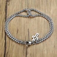 Braccialetto di chiusura del braccialetto del braccialetto del braccialetto del braccialetto del braccialetto della doppia catena della doppia catena classica e del braccialetto dell aragosta di alta qualità