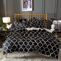 Bedding Sets Bedclothes Quality Luxury Comforter High Grade Black Bed Set 2 3-piece Duvet Cover + Pillowcases Ropa De Cama