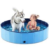 Piscine pliable piscine baignoire pliable pour grands petits animaux et bébés enfants 120cm / 47in kdjk2106