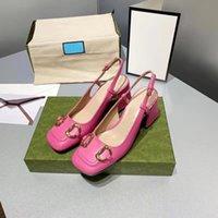 여성 샌들 Luxurys 디자이너 하이힐 스니커즈 Espadrilles 드레스 G 가족 단일 신발 가죽 두꺼운 발 뒤꿈치 제인