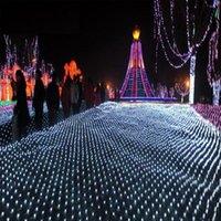 مصابيح الحديقة 2 * 2M 200LEDS حفل زفاف الديكور أدى صافي سلسلة أضواء متعددة الألوان 8 يعرض عيد الميلاد في الهواء الطلق