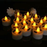 플라스틱 태양 에너지 촛불 램프 햇빛 구동 촛불 Flameless 전자 LED 차 조명 램프 야외 장식