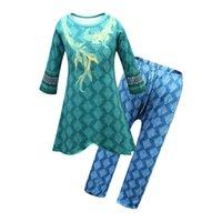 Raya e l'ultimo Dragon Big Girl Dress Dress Set Halloween Bambini Bambini + Pant 2PC Outfit Kid Cartoon Stampa Cosplay Costume Costume Tracksuit