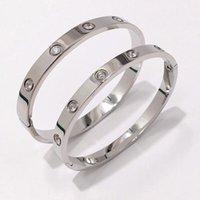 2021 encanto plata diamante tenis brazalete amor pulseras para parejas hombres titanio acero unisex regalo viaje chirstmas blanco oro brazaletes mujeres diseño lujo pulsera