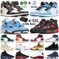 Баскетбольные кроссовки 1s high OG мужчины женщины mid Chicago Obsidian Twist 4s Fire Red Bred Black Cat мужские кроссовки кроссовки