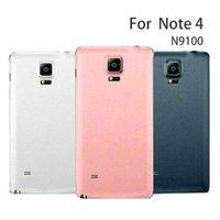 Pil kapağı için Samsung Galaxy Note4 Not 4 N9100 Geri Konut Kapak Kılıfı Yedek N910C N910S N910H N910F N910G N910U N910K N916S N910L