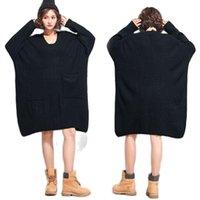 Женские свитера Arcsinx Негабаритные платья свитера Мода Корейский зимний Большой Размер 4XL 5XL 6XL 7XL длинная женщина