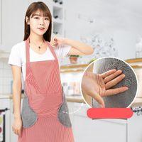 Tabliers d'essuyage à la main à l'eau domestique Tabliers de cuisine Tablier Tabline Stripes Réglages Plaid Ajustement anti-faute de l'huile Adulte Home Work NHA7262