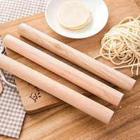 Natural Wooden Rolling Pin Fondant Cake Decoration Kitchen Tool Durable Non Stick Dough Roller High Quality EWD10215