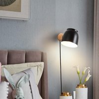 Wall Lamps Wood Nordic Modern LED Lights Decoration For Bedroom Living Room Light Fixture Lamp Study Black Sconce