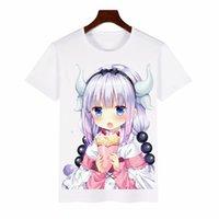 Anime Kobayashi San Chi T Shirts No Maid Dragon Cosplay men Women Sleeves polyester Short Sleeve Tops Tee