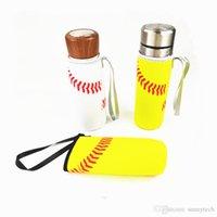 3 نمط عباد الشمس البيسبول الرياضة زجاجة المياه غطاء النيوبرين عازل الأكمام حقيبة حالة الحقيبة ل 500 ملليلتر LX01832