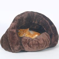 Pet Bed For Cats Dogs Soft Nest Kennel Cave House Sleeping Bag Mat Pad Tent Pets Winter Warm Cozy Beds 2 Size S L 3 Colors Cat & Furniture