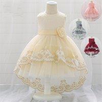 Девушка платья европейской и американской 6-12 месяцев детская сетка ласточка хвост принцессы платье 100 дней день рождения 1553 b3