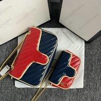 Marmont Luxurys 핸드백 디자이너 클로저 미니 가방 443497 머리 어깨 574969 Pochette 여성 583571 숙녀 가방 지갑 타이거 Dionysu TKFD