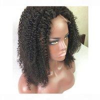 Bythair Virgin Hair Glueless Full Lace Human Hair Wig Kinky Curl Virgin Hair Lace Front Wigs Kinky Curly For Black Women