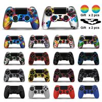 Silicone Rubber Case Cover For SONY Playstation 4 PS4 Controller Protection Skin For PS4 Pro Slim Gamepad Controle Thumb Grips