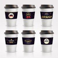 Tek Kullanımlık Yemek LT002 24 adet Mezuniyet Parti Kahve Süt Çay Tatil Yalıtım Kupası Tutucu Oluklu Kraft Kağıt Tutucular