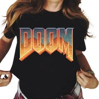 Мужские футболки DOOM COM PRINT T футболка унисекс мода Harajuku мультфильм футболка женщины с коротким рукавом летняя одежда