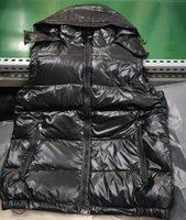 Mode Herren Daunenweste Parkas mit Buchstaben Winter Designer Weste für Männer Frauen Paar Klassische Abzeichen Jacken Casual Westen Mantel 2 Arten