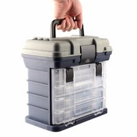 Fishing Accessories 27*17*26Cm 4 Layer Storage Box Large Capacity Big Tackle Pp+Abs Carp Case Lure