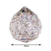 20mm trasparente vetro cristallo palla prisma lampadario pendenti pendenti perline lampada illuminazione gocce di prismi di vetro appeso fai da te gwf6409