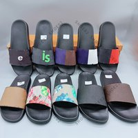 Femme homme Sandal Pantoufles de haute qualité Beach Causal Hommes Femmes Slipper Plat Chaussures Slide UE: 35-45 avec encadré 09