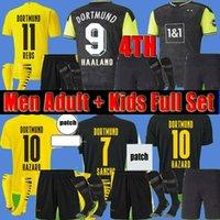 2021 Borussia Haaland Dortmund Quatrième 4ème Soccer Jerseys Men adulte Kits d'enfants Chaussettes courtes 20 21 Reus Brandt Sancho Hummels Emre Couvre-toi football Shirts