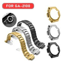 Band GA2100 GA2110 Strap Metal Watch Bezel Stainless Steel Frame Accessory With Tools Wholesale Watchband Bands