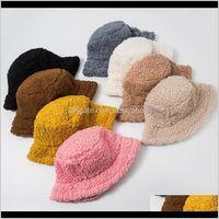 Winter Bucket Lamb Faux Fur Girls Warm Hats Thickened Plush Fisherman Hat Panama Casual Caps Kids Gift 8 Colors Dw6187 9Fbhd P9Xfx