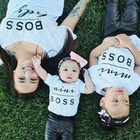 Designer children's clothing Fashion MINI BOSS Matching T-shirts Mother Daughter Son Parent Child Tops Tee Shirts