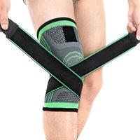 엘보우 무릎 패드 Kuulee Kneepad 야외 남자들이 통기성을 등반하는 실행을위한 스포츠 압축 탄성 붕대 테이프
