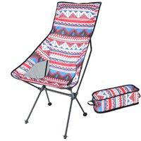 التخييم كرسي متعدد الألوان نزهة شاطئ قابلة للطي مسند الظهر الكراسي مع حمل حقيبة في الهواء الطلق المحمولة اكسسوارات الصيد طوي