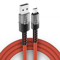 USB braided cables 2.4A fast charging charger micro type C cable for samsung universal cell phone cabless