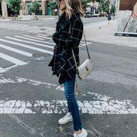 Women's Wool Outerwear windbreaker autumn and winter new woolen cloth loose Blends