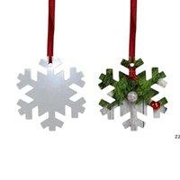 Sublimering blank jul prydnad dubbelsidig xmas träd hängande multi form aluminium tallrik metall hängande tagg semester hwd10563