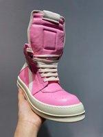 Personnalisée exclusive Rose Real Cuir GeoBasket TPU SOLE Bottes Hommes Hommes / Femmes Trainer Sneaker Shoes Botas