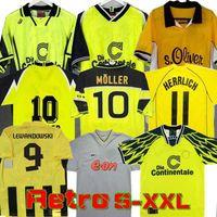Retro Soccer Jerseys 00 01 02 98 98 Classic Football Shirts Lewandowski Rosicky Bobic Koller 95 96 97 94 95 13 13 Reus Möller Dortmund