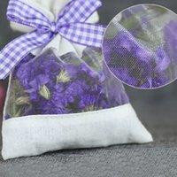 Semi di fiori secchi Erbe di spezie con nastro Home Fragranza Blè di fragranza Svuoti Sacchetti di garza per stoccaggio