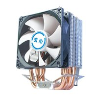 Fans & Coolings Fan Mini Cpu Cooler Cooling 90MM 6 Pure Copper Radiator For Desktop Processor Thermal Grease PC Air Cool