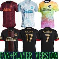 2021 Parley Atlanta United Third Away Jerseys Jerseys Versão Vermelho Prezute Martinez 7 Robinson 12 Barco 8 Damm 22 Jogo Especial Jersey Camisas 2022 21 22