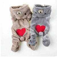 Jumpsuit Jumpers Outfit Bear Small Pet Dog Clothes Fleece Clothing With Hoodies Puppy Apparel Costume Teddy Autumn Winter Car Seat Covers