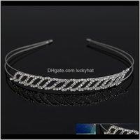 إكسسوارات عالية الجودة الزفاف كريستال حجر الراين هيرباندز الأزياء التصميم مجوهرات H042 I0PTR رباطات IF60T