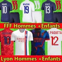 Camiseta de fútbol France Euro 2020 2021 BENZEMA MBAPPE GRIEZMANN POGBA KANTE Francia soccer jersey Copa Mundial mundo Hombre Mujer + Niño Camisetas football shirt