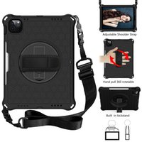 Pro 11 Shockproof Case 2021 360 Rotating Kickstand EVA Kids Cover for Air 4 10.9 inch Tablet+Shoulder Strap