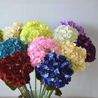 Свадьба гортензии цветок 50 см в длину поддельные односмысленные стебли гортензии белый розовый синий красный для украшения домашней вечеринки
